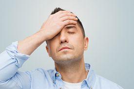 image of forehead  - stress - JPG
