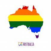 Постер, плакат: Australiamap