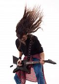 Headbanging Guitarist