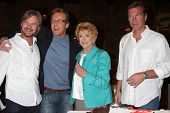 LOS ANGELES - MAR 24:  Stephen Nichols, Doug Davidson, Jeanne Cooper, Peter Bergman at the Young & Restless 38th Anniv On Set Press Party at CBS Television City on March 24, 2011 in Los Angeles, CA