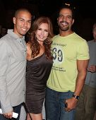 LOS ANGELES - MAR 24:  Bryton James, Tracey E Bregman, Kristoff St John at the Young & Restless 38th Anniversary On Set Press Party at CBS Television City on March 24, 2011 in Los Angeles, CA