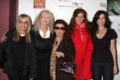 LOS ANGELES - MAR 26:  N Sinatra, C Stevens, N Sinatra Sr., J Fisher, Tricia L Fisher arriving at th