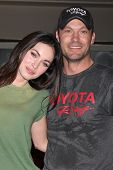 LOS ANGELES - APR 16:  Megan Fox, Brian Austin Green  at the Toyota Grand Prix Pro Celeb Race  at To