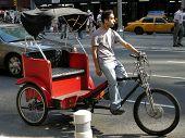Manhattan Bicycle Rickshaw