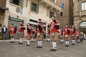 VERONA, VT - SEPTEMBER 27TH: Scottish pipers march in the streets during the 6th Tocati September 27th, 2008 in Verona, Italy