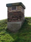 Chimney from air raid shelter
