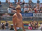 HUNTINGTON BEACH, CA. - MAY 23: AVP Huntington Beach Open south of the pier on the weekend of the 22nd -24th in Huntington Beach, California. Casey Patterson during the mens quarter final match. May 23rd 2009
