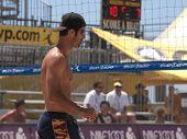 HUNTINGTON BEACH, CA. - MAY 23: Todd Rogers at the AVP Huntington Beach Open south of the pier on the weekend of the 22nd -24th in Huntington Beach, California May 23rd 2009