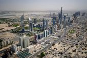 Sheikh Zayed Road In Dubai From The Air