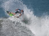 HUNTINGTON BEACH, CA. - JULY 26: Mick Fanning competing at the Hurley US Open of Surfing in Huntingt