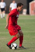 NORTHRIDGE, CA. - AUGUST 28: Nicholas DeLeon dribbling up field during the UNLV vs. CSUN pre-season exhibition on August 28, 2009 in Northridge, Ca.