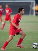 NORTHRIDGE, CA. - AUGUST 28: Stephan Sifuentes dribbling up field during the UNLV vs. CSUN pre-season exhibition on August 28, 2009 in Northridge, Ca.