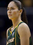 LOS ANGELES, CA. - SEPTEMBER 16: Sue Bird playing during the WNBA playoff game of the Sparks vs. Sto