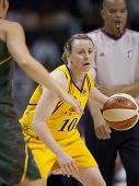 LOS ANGELES, CA. - SEPTEMBER 16: Kristi Harrower in action  during the WNBA playoff game of the Spar