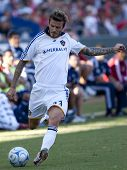 CARSON, CA. - NOVEMBER 1: David Beckham in action during the MLS conference semifinal match of Chiva