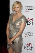 HOLLYWOOD, CA. - NOVEMBER 4: Charlize Theron attends the AFI Fest screening of The Road at The Graum