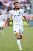 CARSON, CA. - NOVEMBER 1: L.A. Galaxy midfielder David Beckham #23 during the MLS conference semifin
