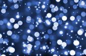 pic of reveillon  - Blue lights - JPG