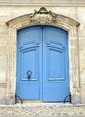 A blue gate