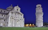 The cathedral and the leaning tower of Pisa