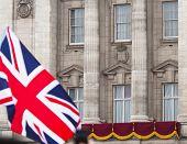 LONDON, UK - APRIL 29: Buckingham Palace balcony at Prince William and Kate Middleton wedding, April 29, 2011 in London, United Kingdom