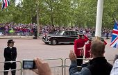 LONDON, UK - APRIL 29: A Rolls-Royce on the Mall at Prince William and Kate Middleton wedding, April 29, 2011 in London, United Kingdom