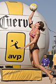 GGLENDALE, AZ - SEPTEMBER 27: Olympian Nicole Branagh competes at the AVP Best of the Beach volleyba