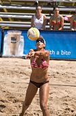 GLENDALE, AZ - SEPTEMBER 27: AVP pro Tyra Turner competes at the AVP Best of the Beach volleyball to
