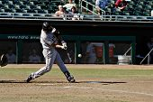 MESA, AZ - NOV 20: Kevin Frandsen of the Scottsdale Scorpions swings at a pitch in the Arizona Fall League game with the Mesa Solar Sox on November 20, 2008 in Mesa, Arizona.