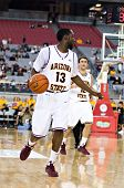 GLENDALE, AZ - DECEMBER 20: Arizona State University guard James Harden #13 dribbles upcourt during