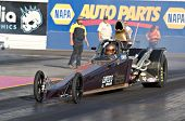 CHANDLER, AZ - OCTOBER 2: A dragster competes in the NHRA Pacific Division drag racing championship