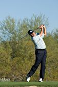 SCOTTSDALE, AZ - OCTOBER 22: Fred Couples hits a drive in the Frys.com Open PGA golf tournament on O