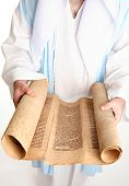 Man Reading Bible Scroll