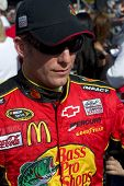AVONDALE, AZ - APRIL 10: NASCAR driver Jamie McMurray makes an appearance before the start of the Subway Fresh Fit 600 on April 10, 2010 in Avondale, AZ.
