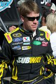 AVONDALE, AZ - APRIL 10: NASCAR driver Carl Edwards makes an appearance before the start of the Subw