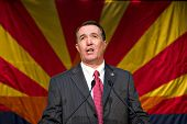 PHOENIX, AZ - NOVEMBER 2: Congressman Trent Franks celebrates victory in his 2010 election campaign