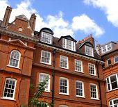 Historic red london architecture.
