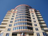 image of vinnitsa  - A modern apartments building viewed from an vinnitsa - JPG