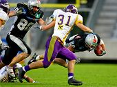 Innsbruck, Austria - July 5: The Tirol Raiders win the European Football League against the Vienna V