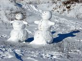 picture of vinnitsa  - This is a snowman Christmas scene 1 - JPG