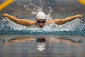VIENNA, AUSTRIA - FEBRUARY 28: Indoor swimming championship: Nina Dittrich places second in th women