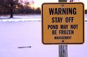 Not Frozen Sign