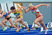 LINZ, AUSTRIA - AUGUST 1 Austrian track and field championship: Bianca D?rr (#309) places first in t
