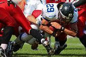 WOLFSBERG, AUSTRIA - AUGUST 18 American Football B-EC: RB Ondrej Visek (#29, Czech) and his team bea