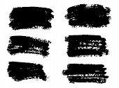 Vector Black Paint, Ink Brush Stroke, Brush, Line Or Texture. Dirty Artistic Design Element, Box, Fr poster