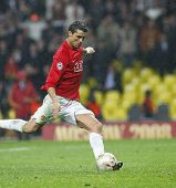 Cristian Ronaldo at the Champions League Final held at Luzhniki Stadium Moscow 21 May 2008 and conte