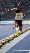 Godfrey Mokoena South Africa competing in the Long jump at the Istaf Berlin International Golden Lea