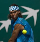 MONTE CARLO MONACO APRIL 24 Raphael Nadal Spain, competing at the ATP Masters tournament in Monte Ca