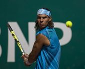 MONTE CARLO MONACO APRIL 21 Raphael Nadal Spain, competing at the ATP Masters tournament in Monte Ca