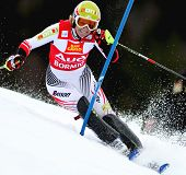 BORMIO ITALY MARCH 14 Marlies Schild Austria skiing at the Audi FIS World cup finals in Bormio Italy